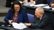 Schäuble und Nahles einigen sich auf Reform der Betriebsrente