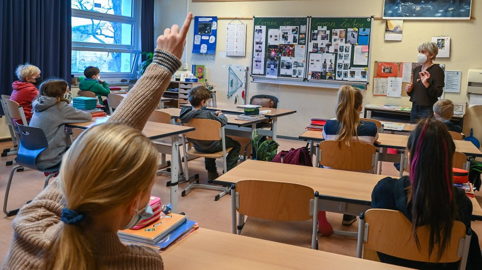 Grundschulunterricht im Februar 2021 in Frankfurt an der Oder