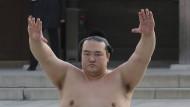 Sumo-Ringer in einem Schrein in Tokio: Ein so gutes Quartal hat der japanische staatliche Rentenfonds noch nie geschafft.