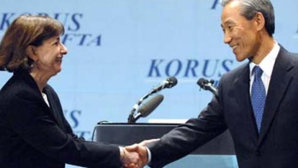 Südkorea und Amerika schließen Freihandelsabkommen