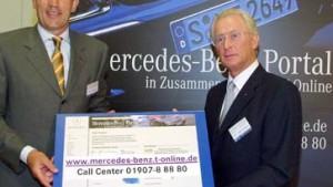 Daimler und T-Online gemeinsam im Netz