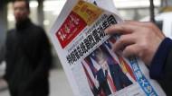 Trump auf der Titelseite einer chinesischen Zeitung