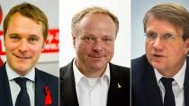 Umstrittene Wechsel in die Wirtschaft: Die früheren Spitzenpolitiker Daniel Bahr (Allianz), Dirk Niebel (Rheinmetall) und Ronald Pofalla (Deutsche Bahn)