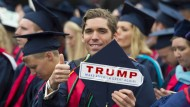 Alternative Fakten hin oder her: Ein Student der privaten christlichen Liberty-Universität in Virginia kann mit Trump offenbar gut leben.