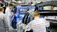 Viel zu tun: Porsche Macan-Produktion in Leipzig