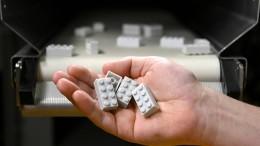 Limoflaschen zu Legosteinen