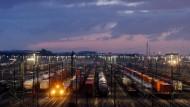 Güterzüge in der Nähe von Hamburg