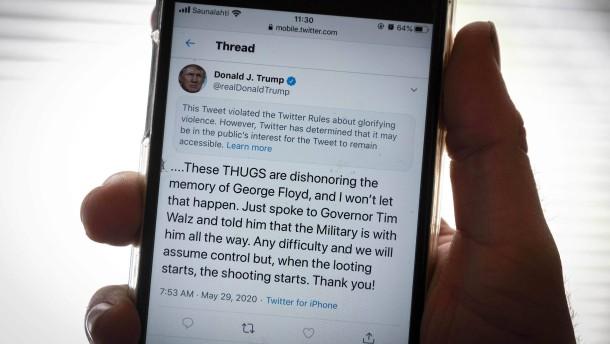 Trumps Kampfansage an die Internetgiganten