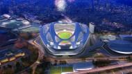 Ausgewählt und dann doch abgelehnt: Der Entwurf von Zaha Hadid ähnelt in der Form einem Fahrradhelm