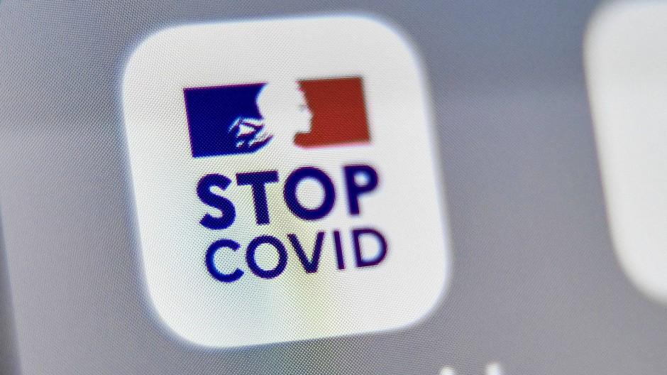 """Das Symbol der französischen """"StopCovid""""-App"""