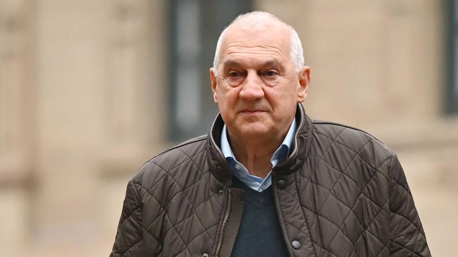 Der schwäbische Unternehmer Willi Balz am Mittwoch vor dem Stuttgarter Landgericht