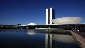 File photo of the Brazilian National Congress designed by architect Oscar Niemeyer is seen in Brasilia