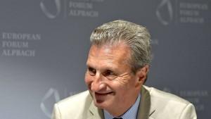Günther Oettinger strebt in die Privatwirtschaft