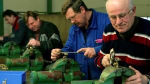Ältere Arbeitnehmer treten oft auf der Stelle