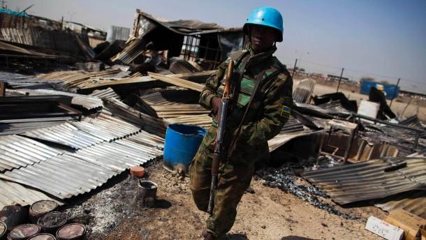 Mehr Blauhelmsoldaten für Südsudan