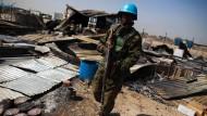 Ein Blauhelmsoldat aus Ruanda im südsudanesischen Malakal