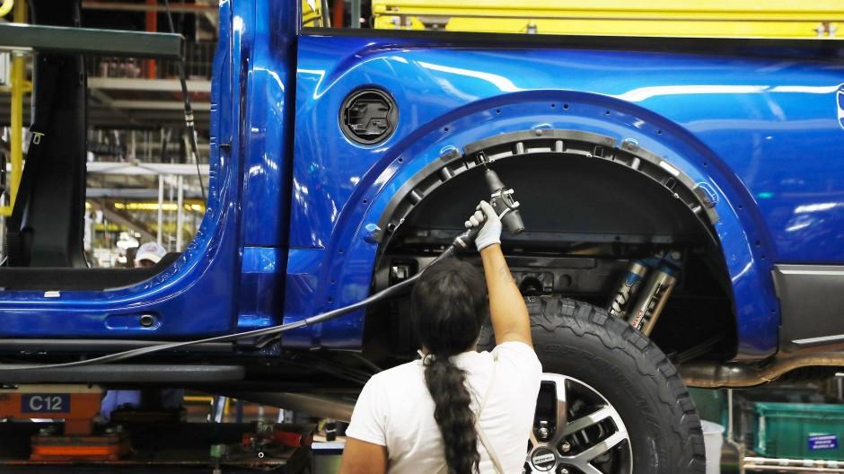 Produktion eines Ford-Trucks