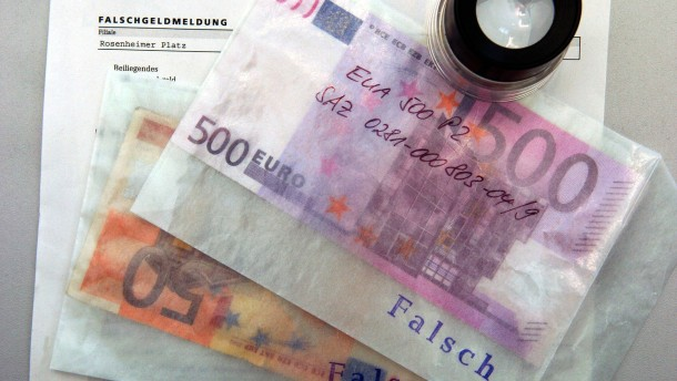 Weniger Falschgeld - doch 500-Euro-Blüten fast verdoppelt