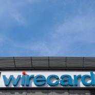 Bayern, Aschheim: Der Schriftzug von Wirecard an der Firmenzentrale des Zahlungsdienstleisters.