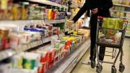 Nahrungsmittel im Euroraum werden günstiger.