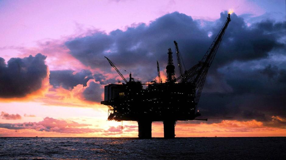 Ölplattform vor der Küste Norwegens