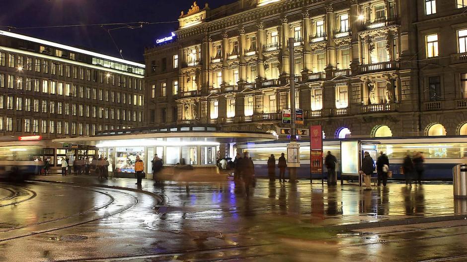 Die Credit Suisse am Züricher Paradeplatz