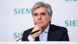 Weniger Gehalt für den Siemens-Chef