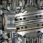 Ein Blick in den Turm in Rottweil, wo Thyssenkrupp seine Aufzüge testet.