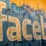 Ein gemaltes Facebook-Logo auf dem Firmensitz in der irischen Hauptstadt Dublin.