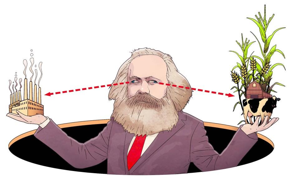 Karl Marx war es nicht wohl beim Anblick der rasant fortschreitenden Urbanisierung.