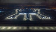 Der Blick von oben auf den neuen Flughafen