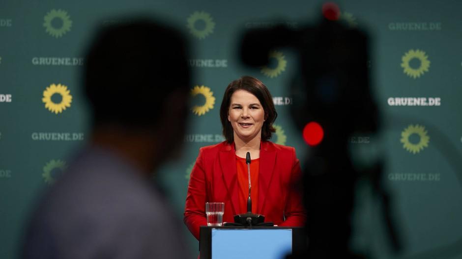 Die Kanzlerkandidatin der Grünen Anna-Lena Baerbock