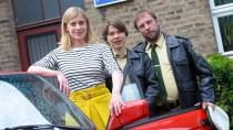 """Die Schauspieler von """"Mord mit Aussicht"""": Caroline Peters, Meike Droste und Bjarne Mädel (von links)"""