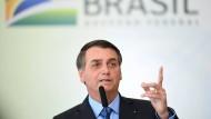 Jair Bolsonaro setzt weiterhin auf Konfrontation.