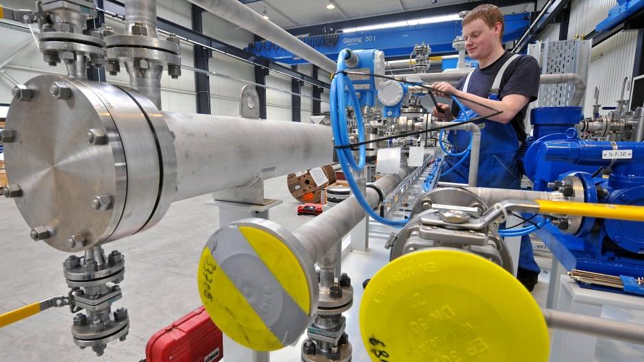 In der Produktion läufts rund: Fabrikhalle der Borsig ZM, das auf Kolben und Getriebeturboverdichter spezialisiert ist.