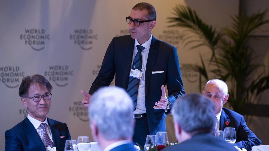 Der Vorstandsvorsitzende des finnischen Netzwerkausrüsters Nokia, Rajeev Suri, auf einer Veranstaltung des Weltwirtschaftsforums in Davos.