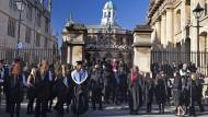 """Unruhe auf dem Campus: Oxford war eine Hochburg des """"Remain""""-Lagers, muss sich nun aber auf neue, unsichere Zeiten einstellen."""