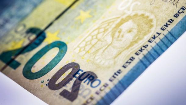Auch der 20-Euro-Schein bekommt standardmäßig eine Lackierung