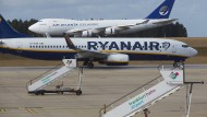 Vor allem die Fluglinie Ryanair nutzt den Flughafen Hahn.