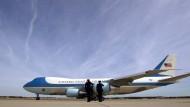 """Bald hat Donald Trump das Vergnügen mit der """"alten"""" Air Force One zu fliegen."""