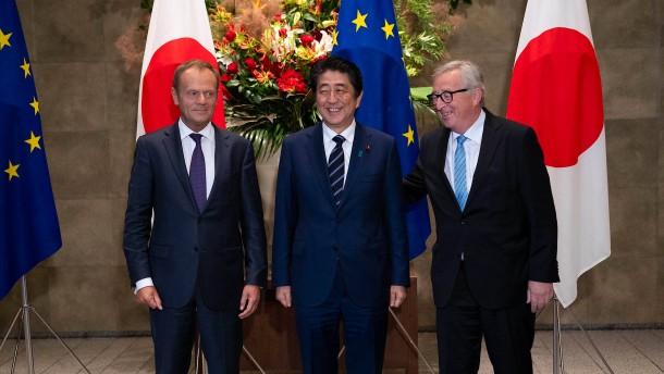 Bündnis gegen Trump: EU und Japan unterzeichnen Freihandelsabkommen