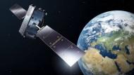 Künstlerische Darstellung eines Galileo-Satelliten