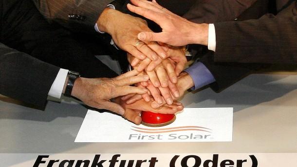 First Solar schließt beide Werke in Frankfurt (Oder)