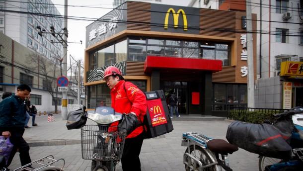 Kein Big Mac mehr in China