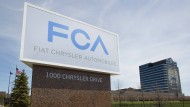Am Firmensitz von Fiat Chrysler in Auburn Hills in Michigan - auch dieser Hersteller soll Abgaswerte in Amerika manipuliert haben.