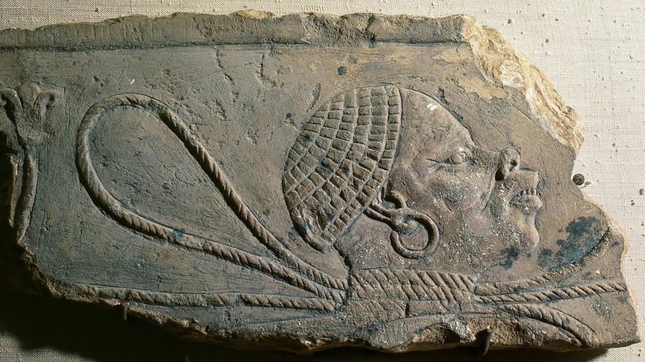 Darstellung eines nubischen Sklaven im alten Ägypten.