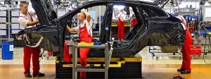 Porsche-Produktion in Leipzig: Auch um die vielen Arbeitsplätze der Autobranche geht es nicht zuletzt in der Diskussion.
