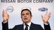 Ghosn ist in Tokio mehrerer Vergehen angeklagt (dieses Bild zeigt in auf einer Pressekonferenz 2013).