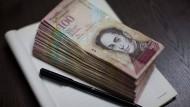 Bislang ist der Hunderter der größte Geldschein in Venezuela.