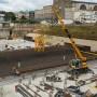 Vorbereitungen für die Bodenplatte des geplanten Tiefbahnhofs Stuttgart 21.